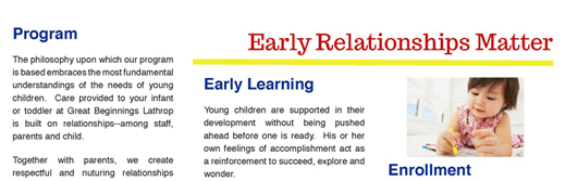 Great Beginnings Daycare Brochure